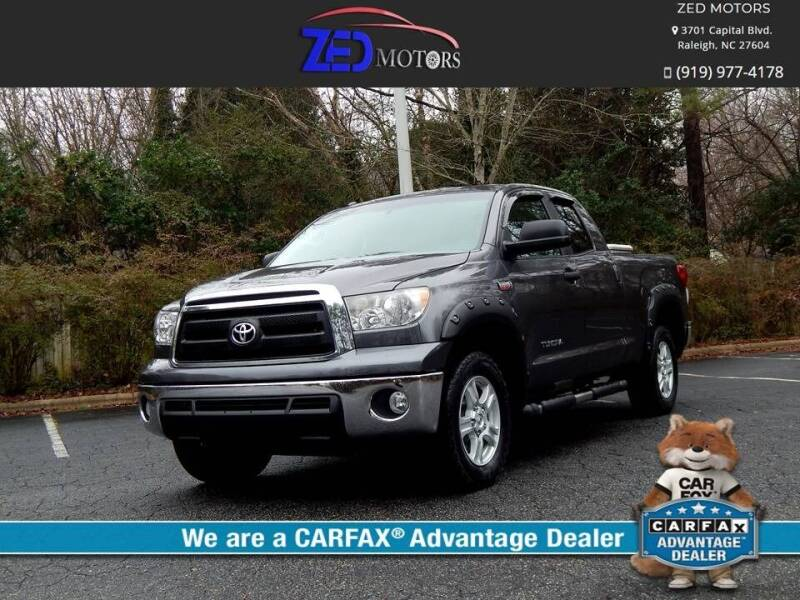 2012 Toyota Tundra for sale at Zed Motors in Raleigh NC