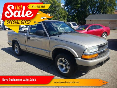 2002 Chevrolet S-10 for sale at Dave Ducharme's Auto Sales in Lowell MA