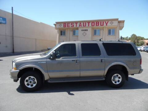 2003 Ford Excursion for sale at Best Auto Buy in Las Vegas NV