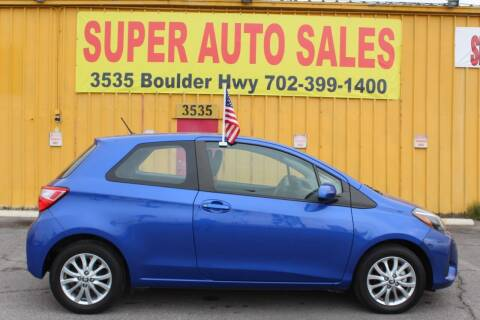 2018 Toyota Yaris for sale at Super Auto Sales in Las Vegas NV