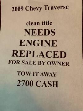 2009 Chevrolet Traverse for sale at Bad Credit Call Fadi in Dallas TX