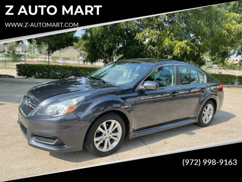 2013 Subaru Legacy for sale at Z AUTO MART in Lewisville TX