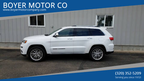 2017 Jeep Grand Cherokee for sale at BOYER MOTOR CO in Sauk Centre MN