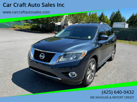 2014 Nissan Pathfinder for sale at Car Craft Auto Sales Inc in Lynnwood WA