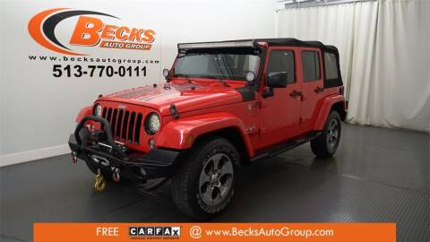 2016 Jeep Wrangler Unlimited for sale at Becks Auto Group in Mason OH