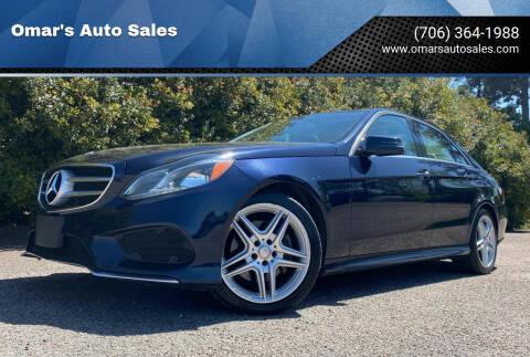 2014 Mercedes-Benz E-Class for sale at Omar's Auto Sales in Martinez GA