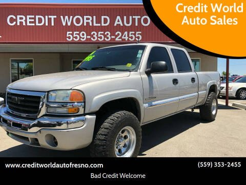 2004 GMC Sierra 2500 for sale at Credit World Auto Sales in Fresno CA