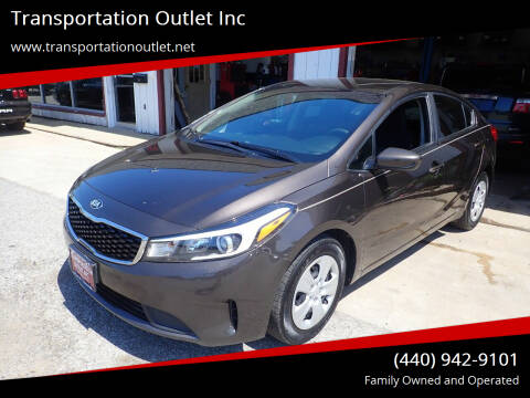 2017 Kia Forte for sale at Transportation Outlet Inc in Eastlake OH