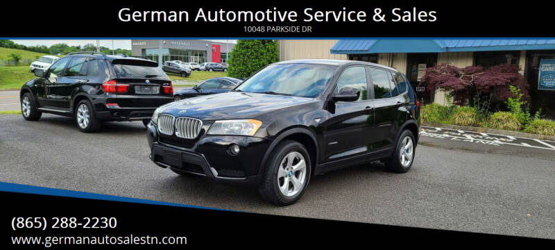 2011 BMW X3 for sale at German Automotive Service & Sales in Knoxville TN