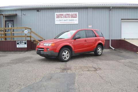 2004 Saturn Vue for sale at Dave's Auto Sales in Winthrop MN