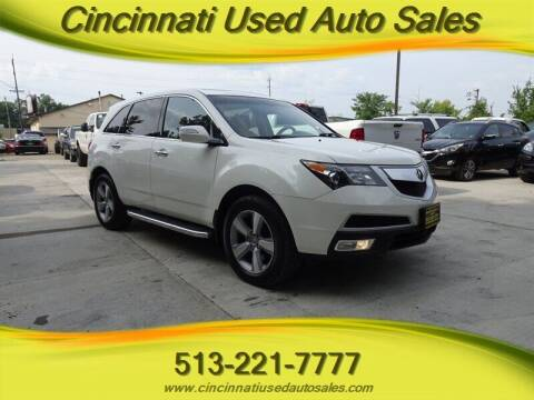 2012 Acura MDX for sale at Cincinnati Used Auto Sales in Cincinnati OH