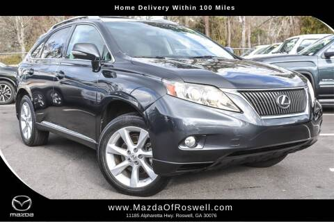 2010 Lexus RX 350 for sale at Mazda Of Roswell in Roswell GA