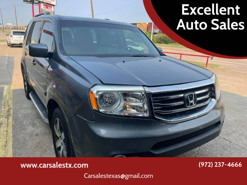 2012 Honda Pilot for sale at Excellent Auto Sales in Grand Prairie TX