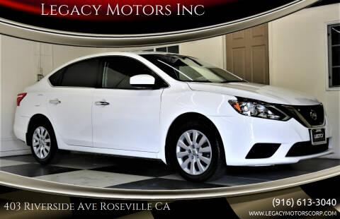 2019 Nissan Sentra for sale at Legacy Motors Inc in Roseville CA