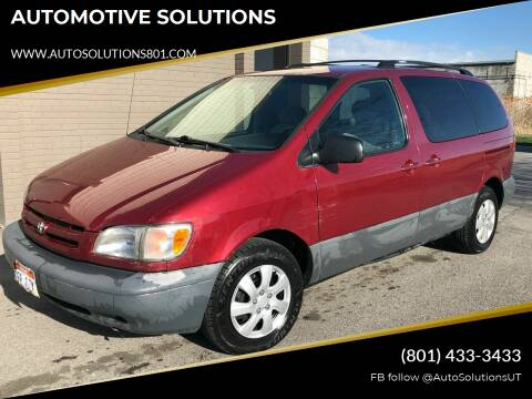 1999 Toyota Sienna for sale at AUTOMOTIVE SOLUTIONS in Salt Lake City UT