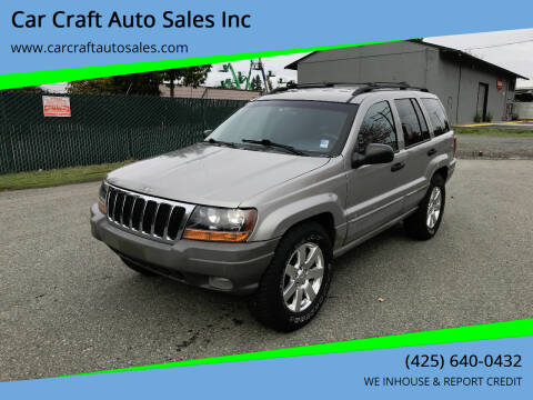 2000 Jeep Grand Cherokee for sale at Car Craft Auto Sales Inc in Lynnwood WA