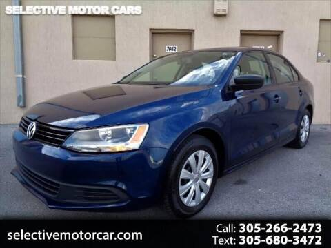 2014 Volkswagen Jetta for sale at Selective Motor Cars in Miami FL