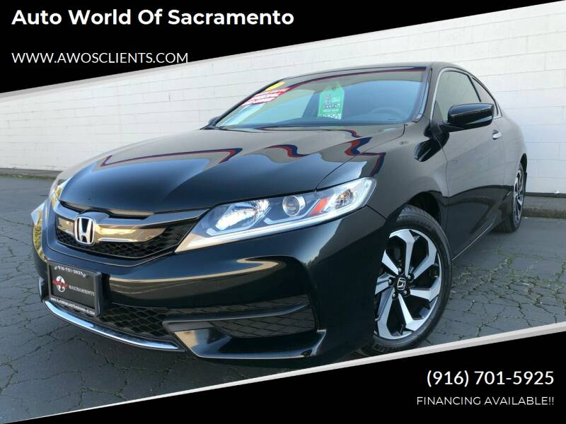 2016 Honda Accord for sale at Auto World of Sacramento Stockton Blvd in Sacramento CA