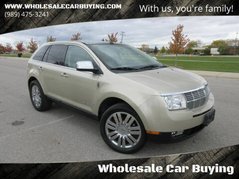 2010 Lincoln MKX for sale at Wholesale Car Buying in Saginaw MI