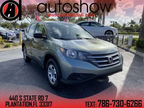 2012 Honda CR-V for sale at AUTOSHOW SALES & SERVICE in Plantation FL