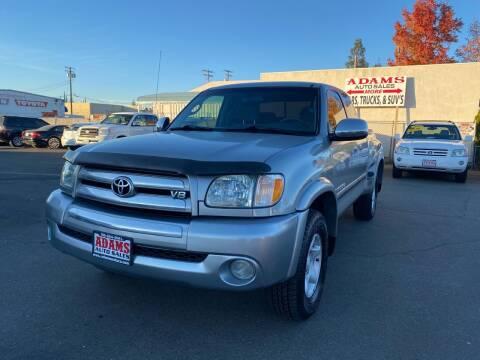 2004 Toyota Tundra for sale at Adams Auto Sales in Sacramento CA