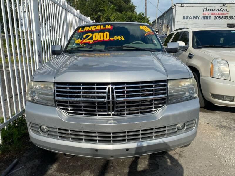 2010 Lincoln Navigator L for sale at America Auto Wholesale Inc in Miami FL