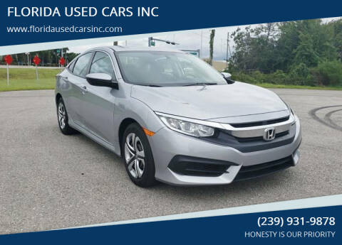 2016 Honda Civic for sale at FLORIDA USED CARS INC in Fort Myers FL