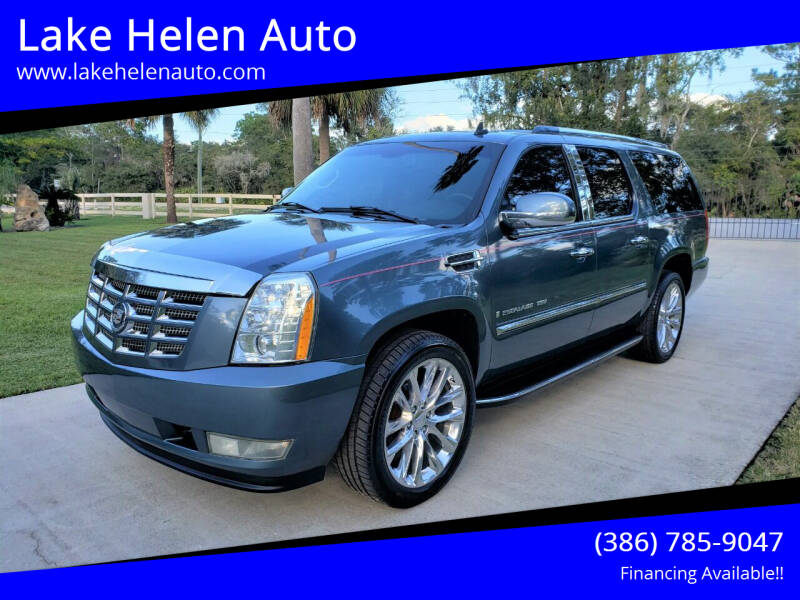2008 Cadillac Escalade ESV for sale at Lake Helen Auto in Lake Helen FL
