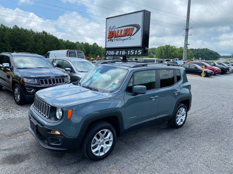 2018 Jeep Renegade for sale at Billy Ballew Motorsports in Dawsonville GA