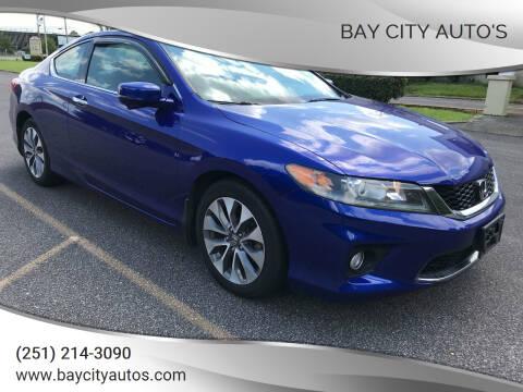 2013 Honda Accord for sale at Bay City Auto's in Mobile AL
