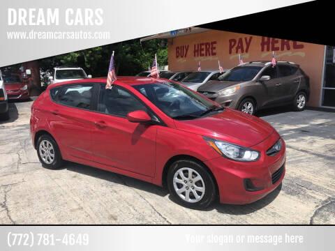 2013 Hyundai Accent for sale at DREAM CARS in Stuart FL