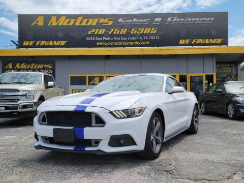 2015 Ford Mustang for sale at A MOTORS SALES AND FINANCE - 5630 San Pedro Ave in San Antonio TX