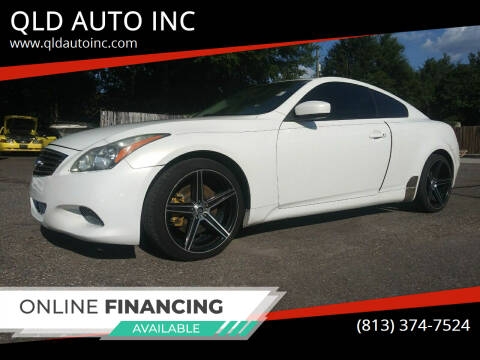 2010 Infiniti G37 Coupe for sale at QLD AUTO INC in Tampa FL