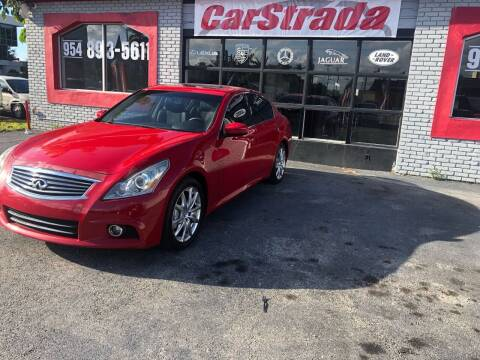 2013 Infiniti G37 Sedan for sale at CARSTRADA in Hollywood FL