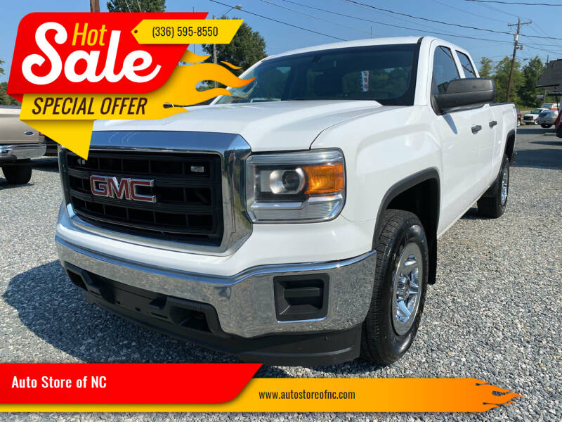 2014 GMC Sierra 1500 for sale at Auto Store of NC in Walkertown NC