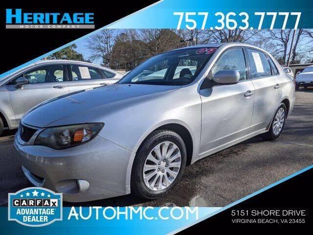 2009 Subaru Impreza for sale at Heritage Motor Company in Virginia Beach VA