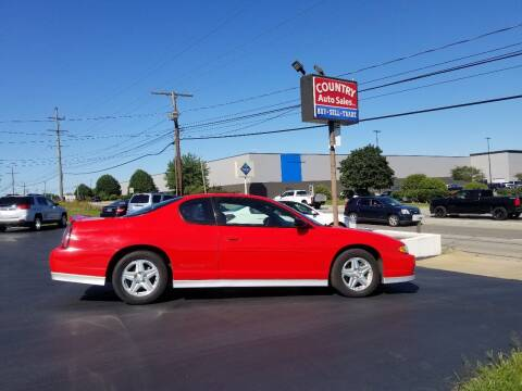 2001 Chevrolet Monte Carlo for sale at Country Auto Sales in Boardman OH