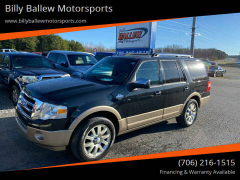 2013 Ford Expedition for sale at Billy Ballew Motorsports in Dawsonville GA
