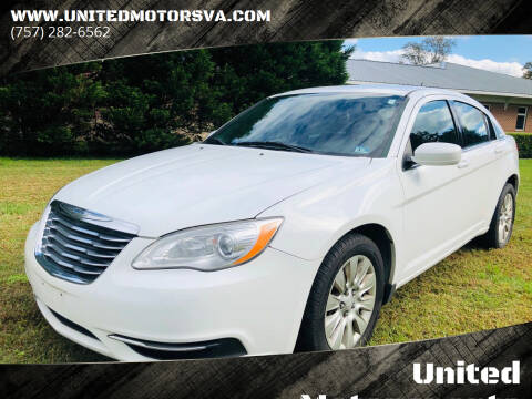 2012 Chrysler 200 for sale at United Motorsports in Virginia Beach VA