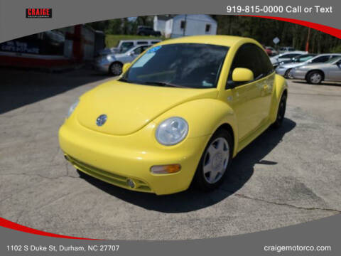 1999 Volkswagen New Beetle for sale at CRAIGE MOTOR CO in Durham NC