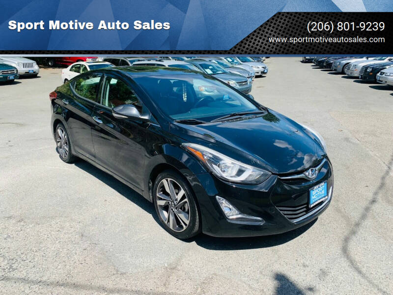 2015 Hyundai Elantra for sale at Sport Motive Auto Sales in Seattle WA