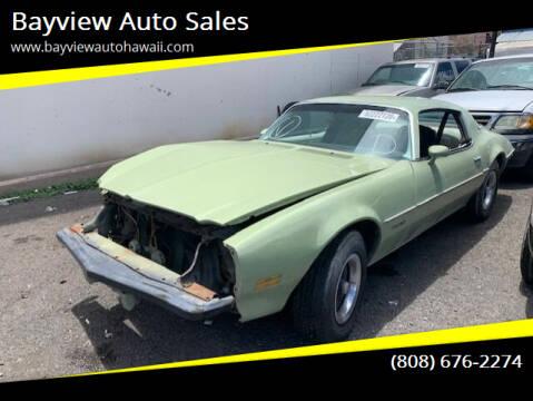 1975 Pontiac Firebird for sale at Bayview Auto Sales in Waipahu HI