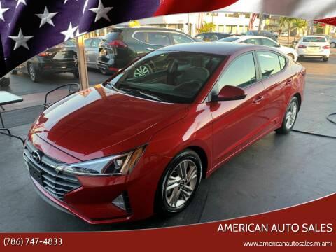 2019 Hyundai Elantra for sale at American Auto Sales in Hialeah FL