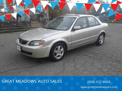2002 Mazda Protege for sale at GREAT MEADOWS AUTO SALES in Great Meadows NJ
