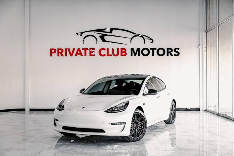 2018 Tesla Model 3 for sale at Private Club Motors in Houston TX