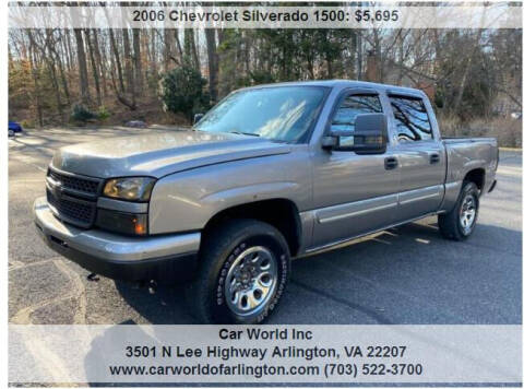 2006 Chevrolet Silverado 1500 for sale at Car World Inc in Arlington VA