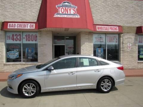 2015 Hyundai Sonata for sale at Tony's Auto World in Cleveland OH