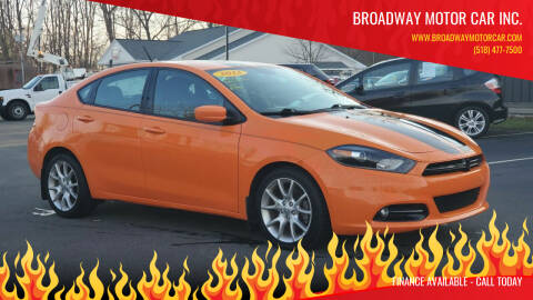 2013 Dodge Dart for sale at Broadway Motor Car Inc. in Rensselaer NY