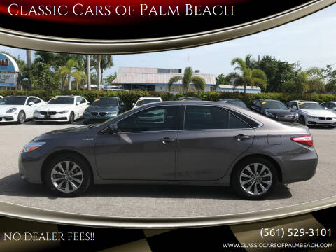 2017 Toyota Camry Hybrid for sale at Classic Cars of Palm Beach in Jupiter FL