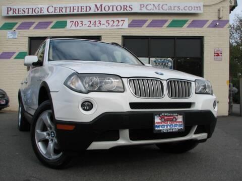2008 BMW X3 for sale at Prestige Certified Motors in Falls Church VA